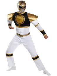 Light Blue Power Ranger Costume Power Rangers White Ranger Classic Muscle Mens Costume