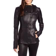 blanc noir asymmetric hooded moto jacket women s evo