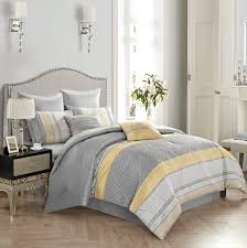 Evolive Luxury Cecilia Jacquard 8-piece Comforter Set Yellow/Grey F/Q or