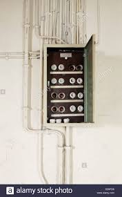 berlin fuse box fuses and power cables stock photo berlin fuse box fuses and power cables