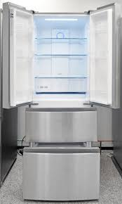 haier 16 4 cu ft quad french door freezer refrigerator in stainless steel. credit: haier 16 4 cu ft quad french door freezer refrigerator in stainless steel