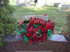 also  as well How to Make a Beautiful Deco Mesh Gravestone Saddle   flower further  besides  additionally Headstone decoration for Christmas Back View   Headstone likewise 61 best wreaths funeral images on Pinterest   Cemetery flowers as well  as well  besides  likewise 158 best MEMORIAL WREATHS   SADDLES images on Pinterest   Cemetery. on deco mesh ideas for headstones