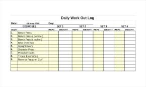 Weight Training Logs Weight Lifting Journal Template Workout Logs Excel Work Out Training