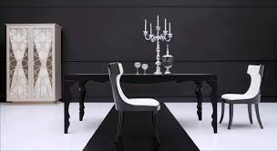 excellent italian black lacquer dining room table black or white contemporary simple decoration full size