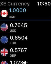 Xe Currency Converter Chart Apple Watch App Watchaware
