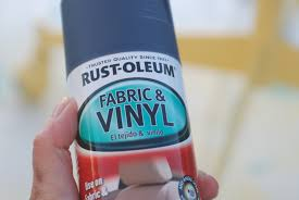 This is such cool stuff! You can pick up Rustoleum's Fabric and Vinyl spray  paint at ...
