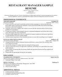 resume for restaurant restaurant manager resume template business articles pinterest
