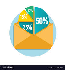 28 Pie Chart Open Envelope With Business Pie Chart