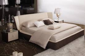 Platform Bedroom Furniture Exotic Wood High End Platform Bed With Easy To Clean Fabric