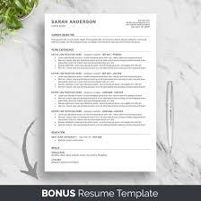 10 Best Etsy Resume Templates Graphicadi Ats Resume Template