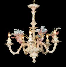 capodimonte mother of pearl chandelier 5 light new