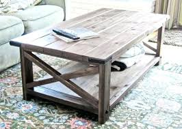 rustic modern coffee table a rustic coffee table with x bars on the sides rustic modern