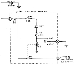 onan control board operation stop circuit schematic diagram