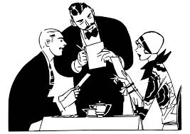Kleurplaat Ober In Het Restaurant Afb 18648 Images