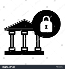 Bank Security Design Abstract Illustration Concept Digital Bank Security Signs