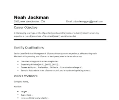 Restaurant Objective For Resume Sample Career Objective For Resume