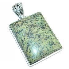 fabulous moss agate 925 sterling silver handmade pendant