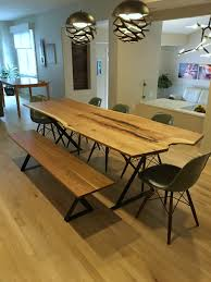 raw edge dining table. Solid Elm \ Raw Edge Dining Table