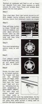 white westinghouse frigidaire oven self cleaning appliance aid white westinghouse frig range analog clock