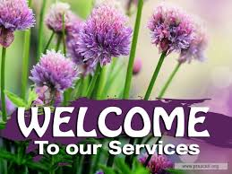 Welcome Purple Service Background For Church Services Welcome Purple Flowers