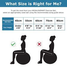 Exercise Ball Size Chart Us 21 68 49 Off 21inch 55cm High Strength Anti Burst Exercise Yoga Ball Eco Pvc Multi Gym Workout Fitness Training Stability Balance Balls In Yoga