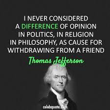 Thomas Jefferson Quote Classy Thomas Jefferson Quote About Religion Politics Opinion Friendship CQ
