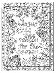 5 Christian Coloring Pages For Christmas Color Book Digital Etsy