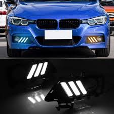 Led Lights For 2013 Bmw 328i Car Flashing 1pair Led Drl Daytime Running Lights Fog Lamp