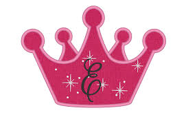 Bowling Machine Embroidery Designs Cute Princess Birthday Crown Applique Instant Download