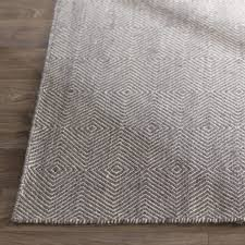 mercury row marcelo flat woven cotton gray area rug reviews wayfair within rugs decor 6