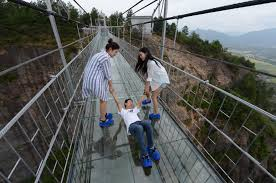 dares you to cross its giant glass bridge the verge  glass bridge getty