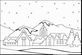 Disegni Paesaggi Invernali Da Colorare Disegno