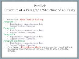 week introducing essay ppt video online  parallel structure of a paragraph structure of an essay