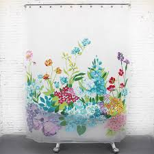 thick eva waterproof floral long shower curtains