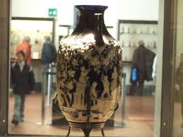 hge08 pompeii blue vase from tomb side 3 view now in naples archaeological