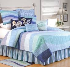 image of blue nautical queen size bedding sets
