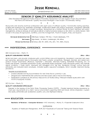 Quality Resume Examples Nice Qa Resume Examples With Ideas Collection Quality Assurance 11
