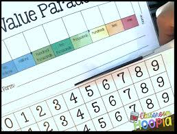 How To Create A Place Value Chart Classroom Hoopla Place Value Parade My Favorite Tactile