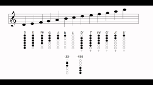 Flutophone Finger Chart Tin Whistle Notes And Fingering Charts