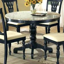 granite table set collection round granite top dining table set photos
