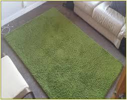 hampen rug high pile bright green