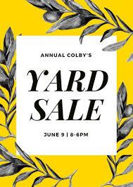 sale flyers customize 345 yard sale flyer templates online canva