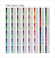 Free 7 Sample Html Color Code Chart Templates In Free