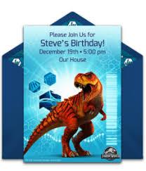 Jurassic Park Invitations Free Jurassic World Online Invitations Punchbowl