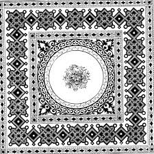 rug black and white clipart