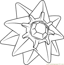 Starmie Pokemon Coloring Page Free Pokémon Coloring Pages