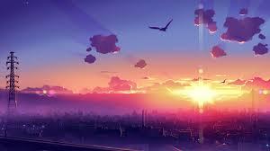 Anime Scenery Sunset 4k, HD Anime, 4k ...