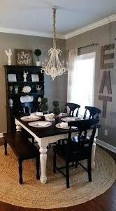 black round dining room table rustic farmhouse dining room home decor chalk painted dining table black