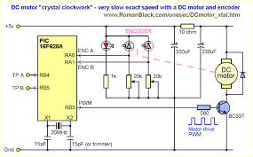 pic project dc motor like crystal clockwork above is the entire schematic of my test setup you can see how simple it is even the added complexity of a quadrature encoder there are still very