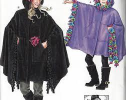 Fleece Poncho Pattern With Hood Awesome Hooded Poncho Fleece Etsy